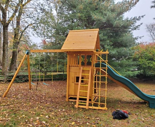 Ultimate Playground with Ladder, Swings, and Bottom Clubhouse