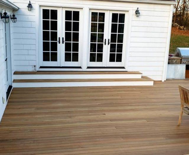 new walkout deck steps