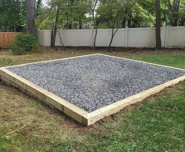 Best in Backyards Gravel Pad Base for Shed