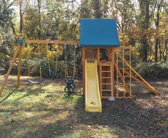 Dream Jungle Gym with Slide, Horse Glider Swing, and Gang Plank