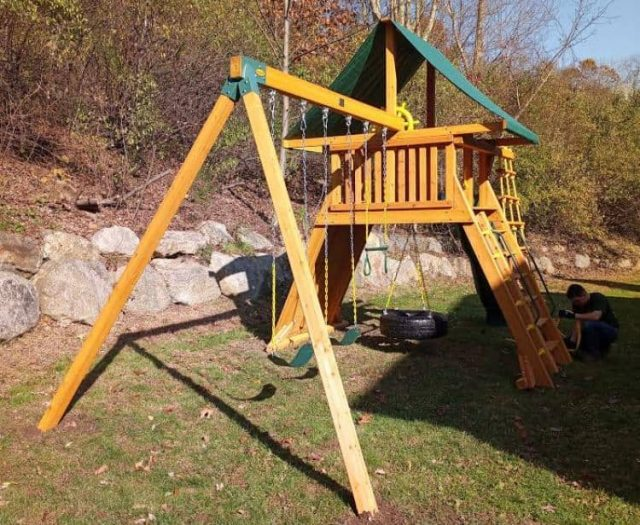 Extreme Jungle Gym with Sling Swing, Ladder, and Tent Top