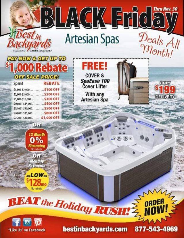 Nov 2020 Artesian Hot Tubs and Swim Spas