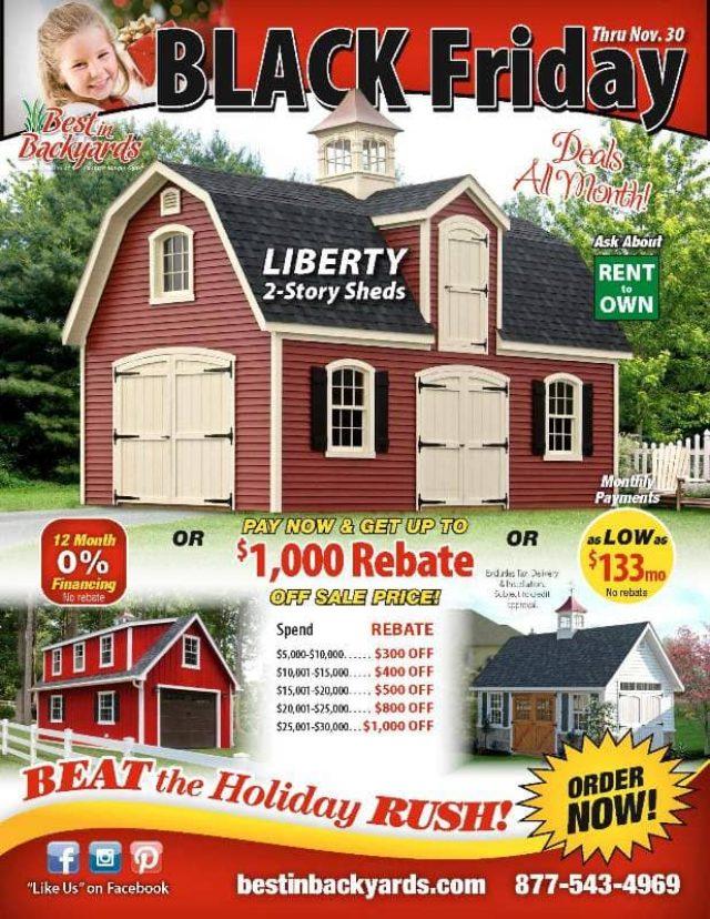 Nov 2020 Liberty 2 Story Sheds