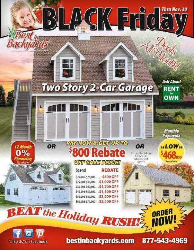 Nov 2020 Two Story 2 Car Garage