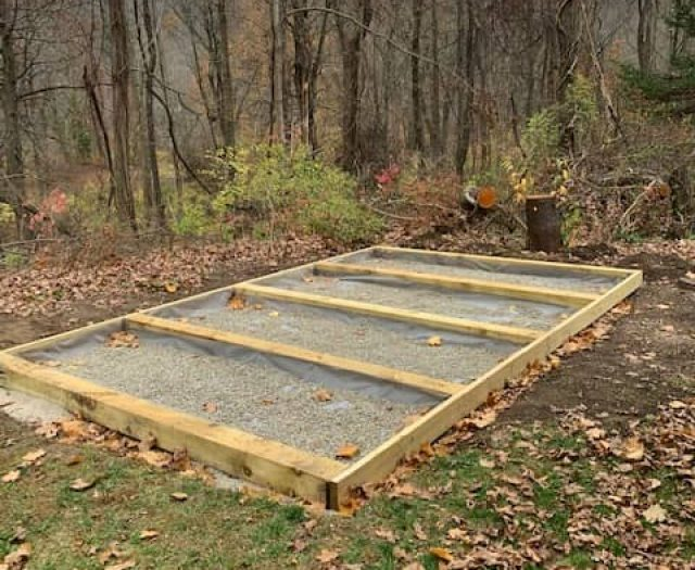 Best in Backyards Shed Pad Frame and Gravel