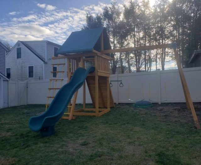 Dream Jungle Gym with Scoop Slide, Swings, and Ring Trapeze Bar