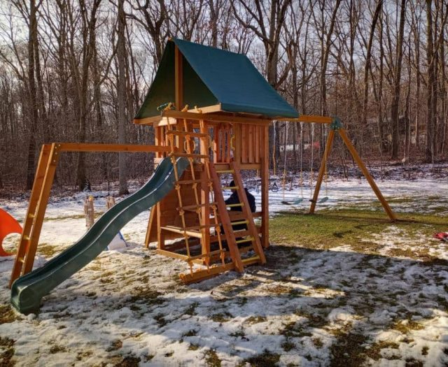 Dream Swing Set with Picnic Table, Monkey Bars and Ladder
