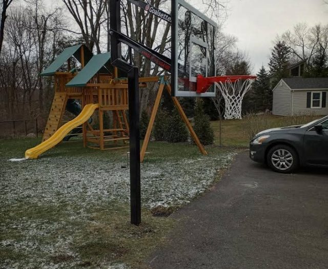 Goalsetter Contender In Ground Basketball System Eastern Jungle Gym Sky Swing Set