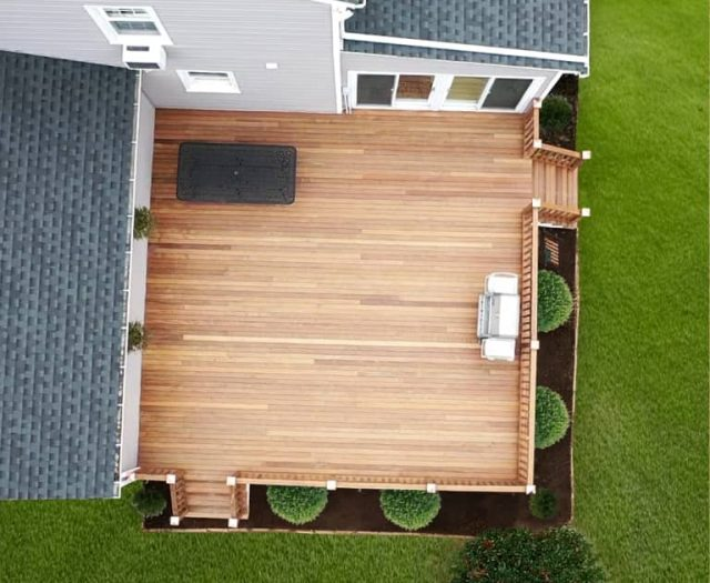 attached wooden deck builders