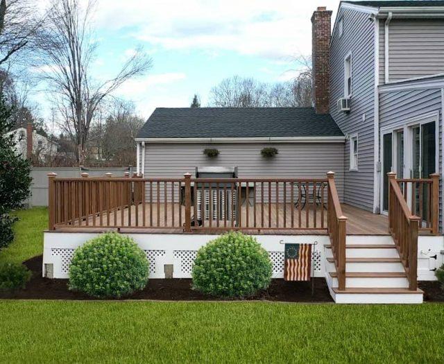 hardwood deck installation