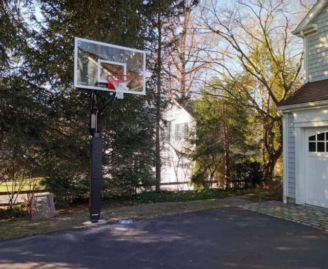 All American Basketball System on Driveway