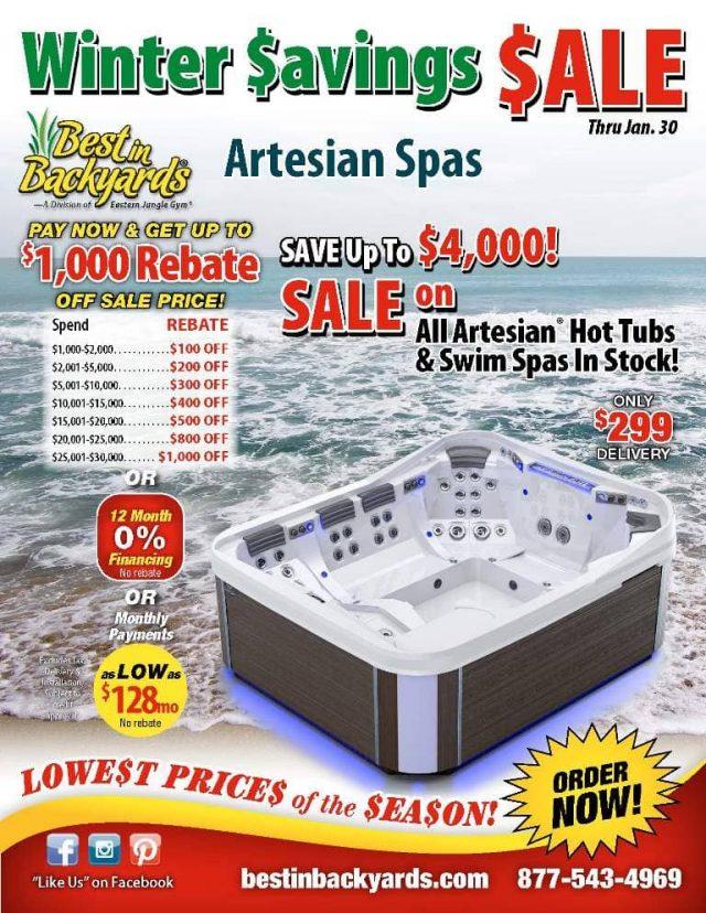 Artesian Hot Tubs and Spas Sale