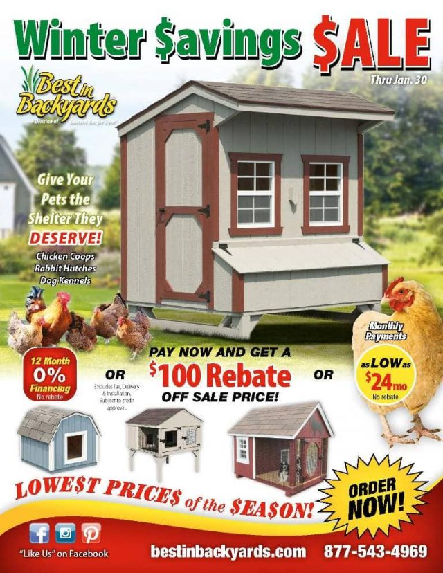 Chicken Coops and Pet Shelters Sale