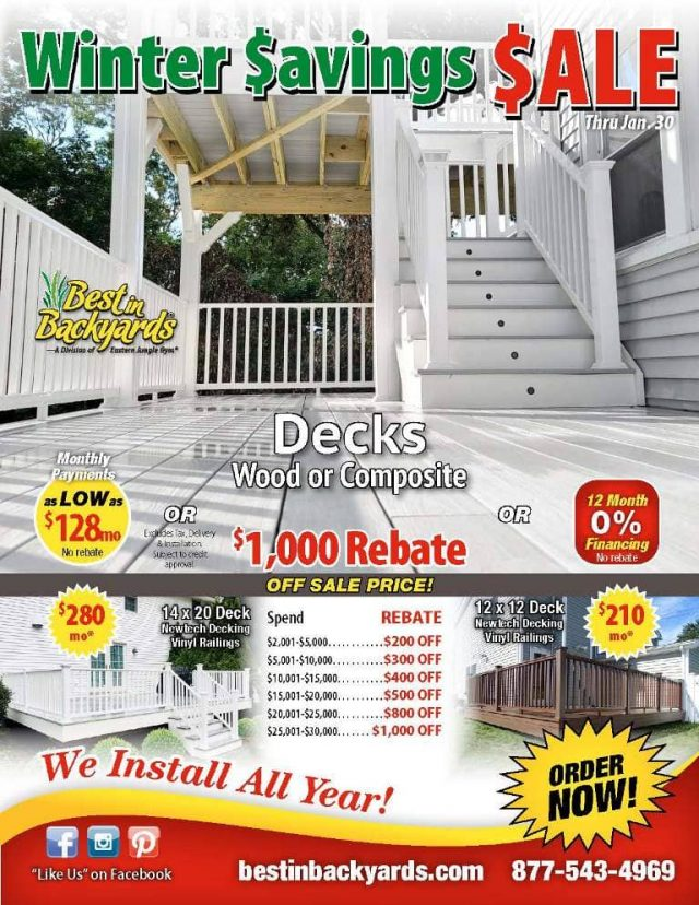 Composite and Wood Deck Sale