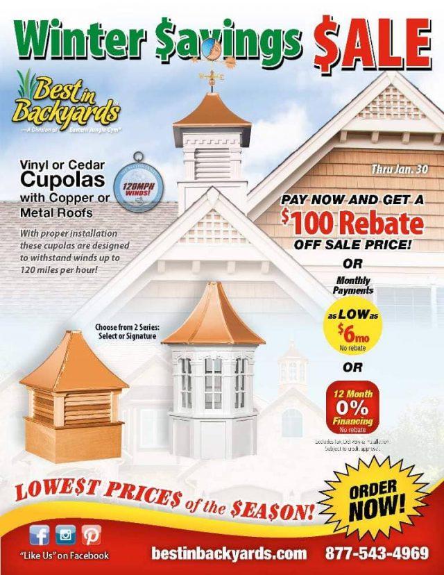 Cupola and Weather Vane Sale