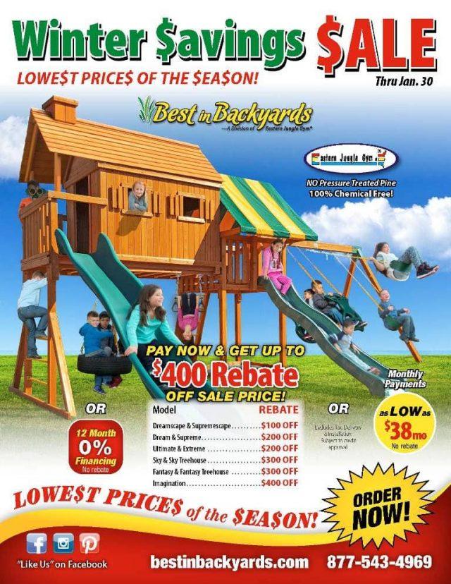 Eastern Jungle Gym Swing Set Sale