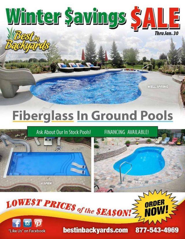 Inground Fiberglass Pools by Thursday Sale