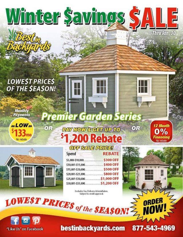 Premier Garden Series Shed Sale