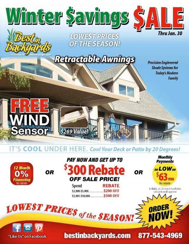 Retractable Awnings by Solair Sale