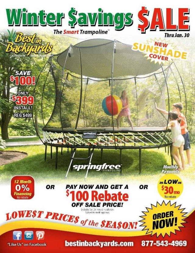 Springfree Trampoline Sale