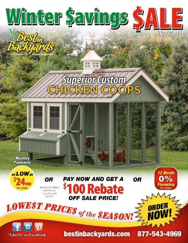 Superior Custom Chicken Coop Sale