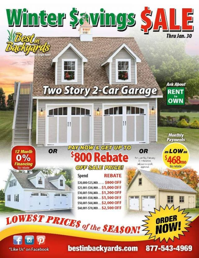Two Story Two Car Garage Sale