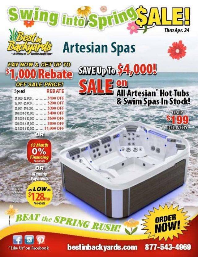 Artesian Spas April Cover