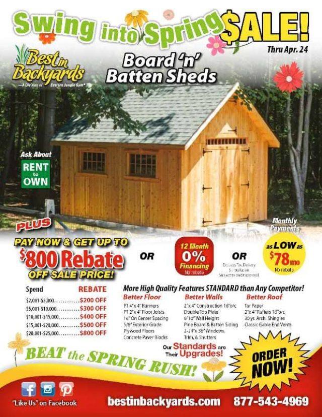 Board 'n' Batten Sheds April Cover