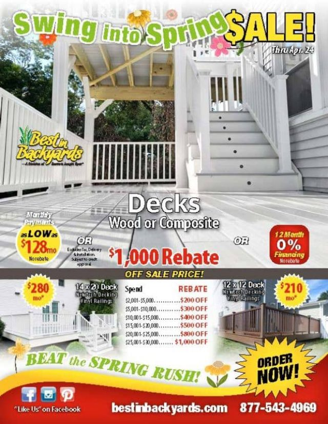 Composite and Wood Decks April Cover