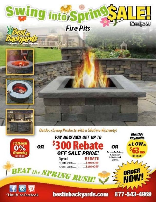 Custom Fire Pits April Cover