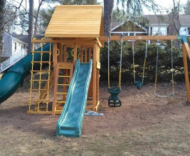 Dream Jungle Gym with Horse Glider, Jacob's Ladder, and Bucket Infant Swing