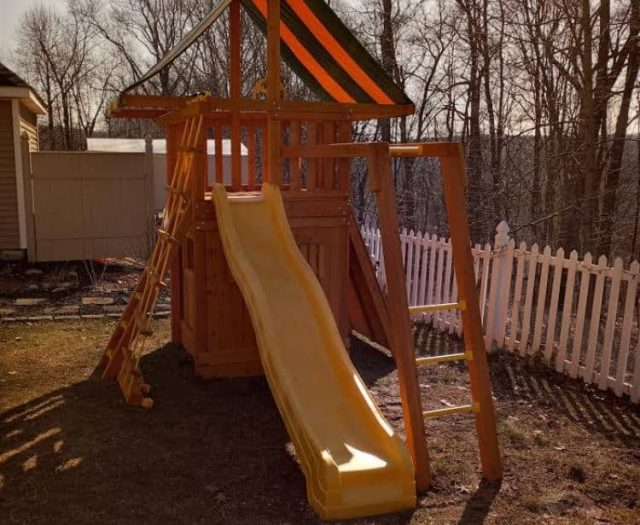 Dream Swing Set with Wave Slide, Monkey Bars, and Bottom Playhouse