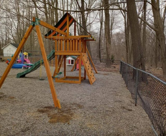 Dream Swing Set with Wave Slide, Sling Swings, and Two Swing Arms
