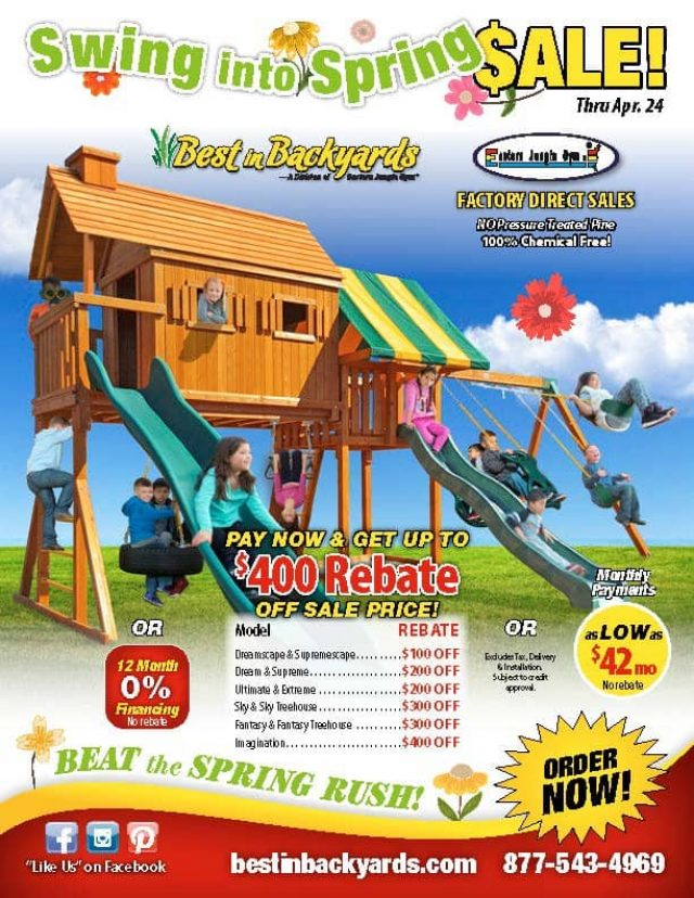 Eastern Jungle Gym Swing Sets April Cover