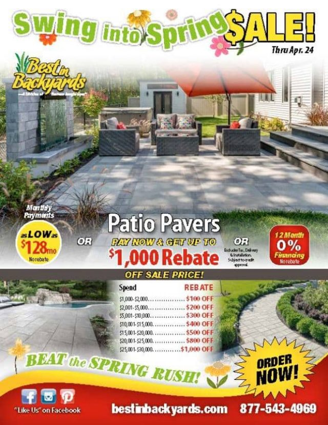 Patio Pavers April Cover