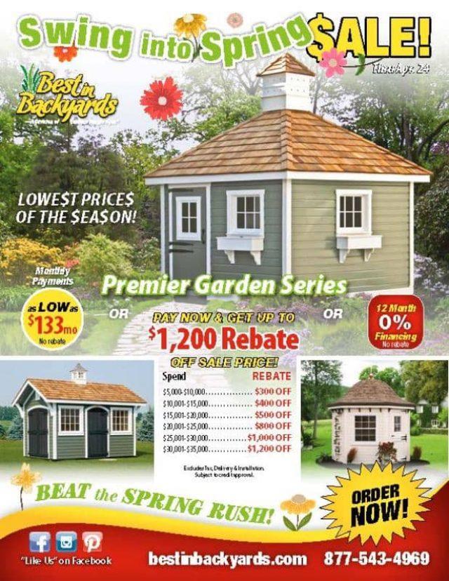 Premier Garden Series Sheds April Cover