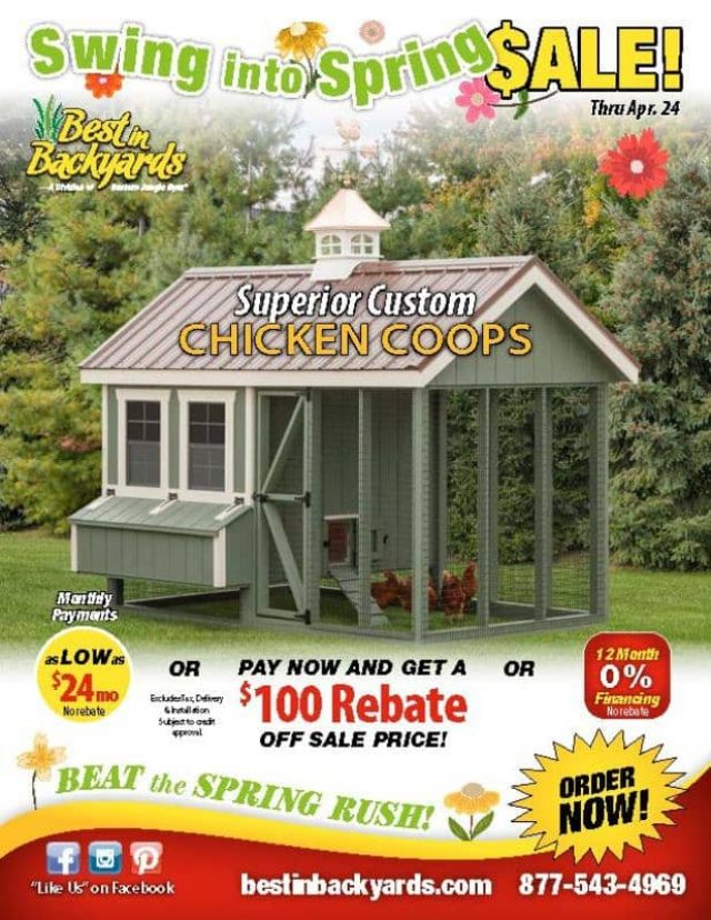 Superior Custom Chicken Coops April Cover