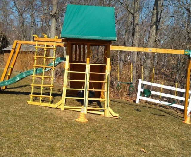 Supreme Playset with Swings, Ladder, and Incline Install