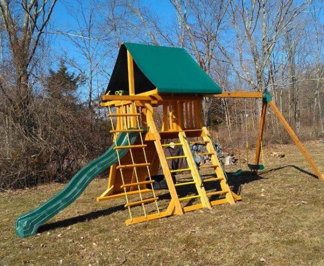 Supreme Swing Set with Step Ladder, Tire Swing, and Jumbo Binoculars