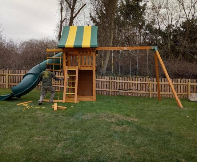 Dream Jungle Gym with Spiral Slide, Sling Swings, and Installer