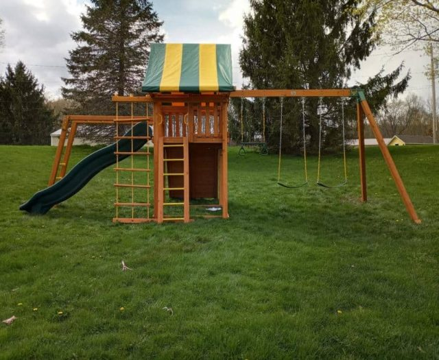 Dream Swing Set with Monkey Bars, Sling Swings, and Ladder
