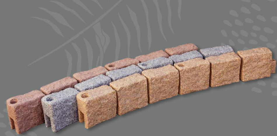 flexible plastic border for rubber mulch installation