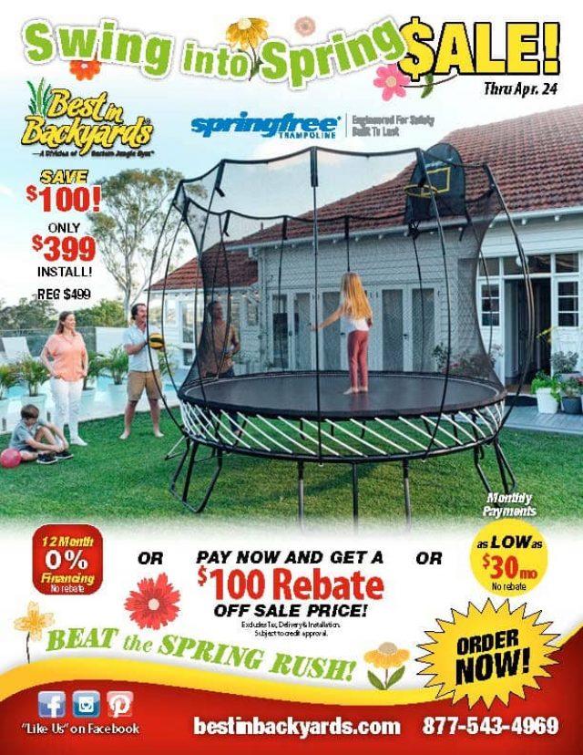 Springfree Trampoline April Cover
