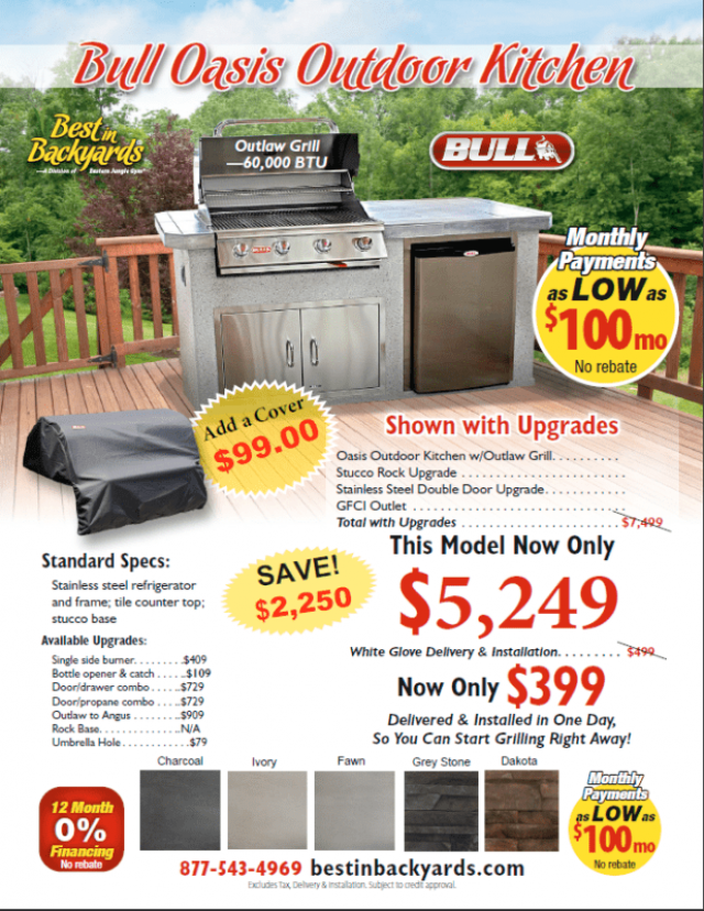 2021 Bull Pre Built Outdoor Kitchens