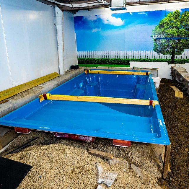 durable fiberglass inground pool installation