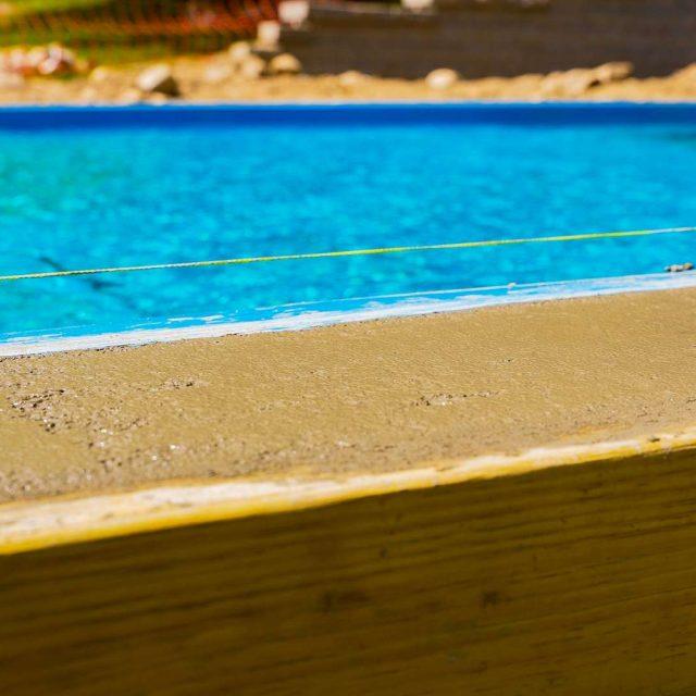 patio and inground pool installation