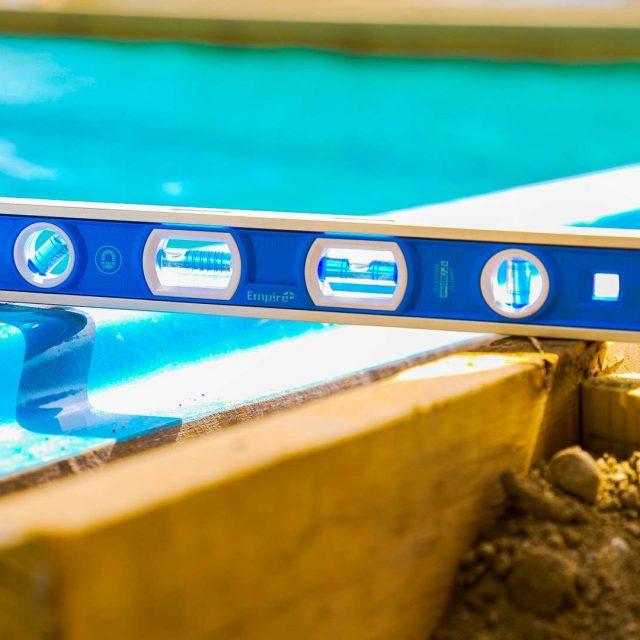 measurements for new fiberglass inground pool
