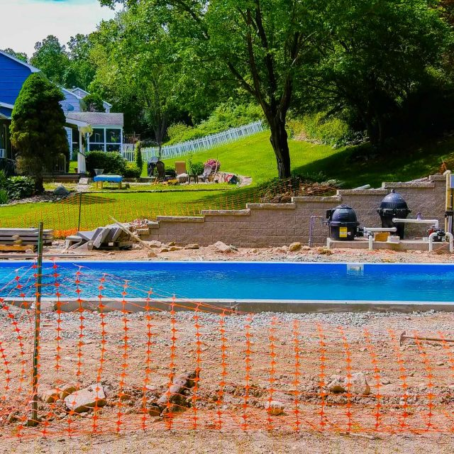 residential new pool construction