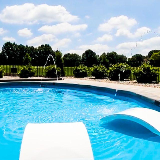 Wellspring fiberglass inground pool installation near me