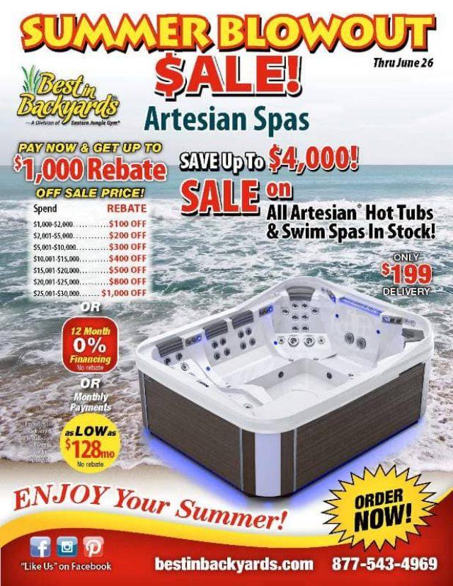 Artesian Spas June Cover